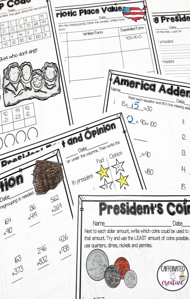President's Day No Prep Mini Unit for Second Grade is perfect for fun and engaging activities on President's Day!