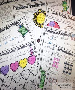 Second Grade No Prep February Unit