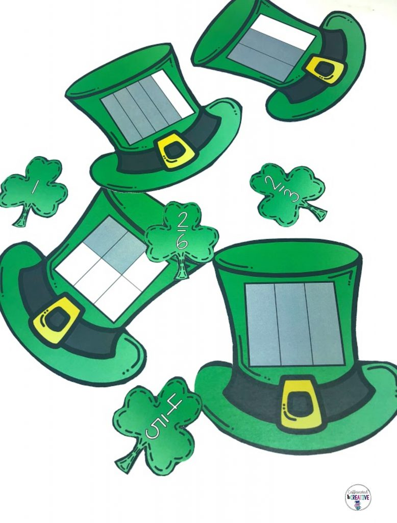 No luck needed here! With Fortune Fractions, students will learn to match shaded fractions with the numerical form in no time. Great to use around St. Patrick's Day!