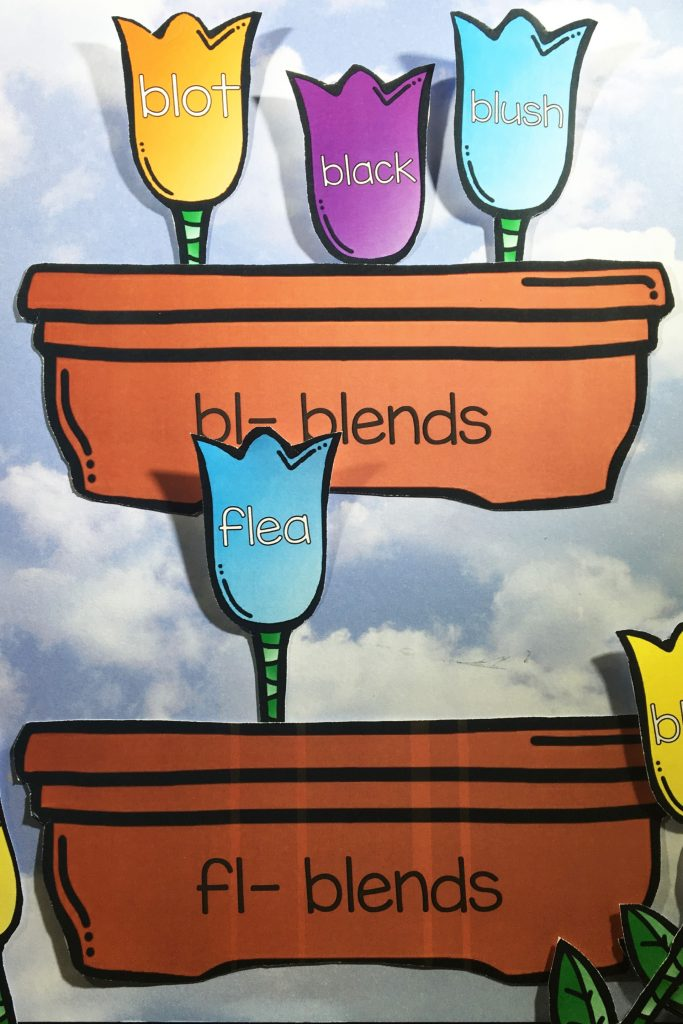 "Blooming Blends is an awesome, not mention, adorable, way for students to practice the ""L"" blends. The beginning blends bl, fl, sl, and pl are all included."