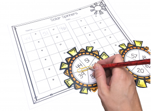 Solar Spinners is a fun center game for students to practice regrouping two digit numbers. This comes with a recording sheet and 30 different suns!
