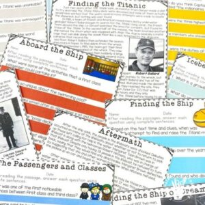 Titanic reading passages are included in a big Titanic Interactive Unit. After reading the passages, the will be able to play a comprehension game to show their understanding!