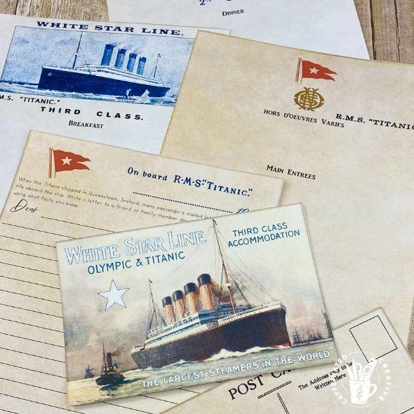 Immerse students in learning all about the Titanic by even creating menus and writing post cards aboard the ship!