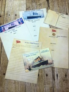 Titanic menus and stationary for an immersive Titanic lesson.