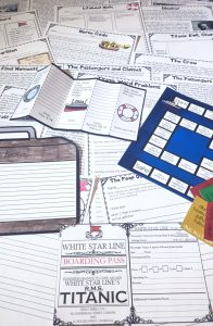 This Titanic Unit has everything you will need to teach students about the ill fated ship! Comes with reading passages, an interactive game, boarding passes, writing activities, math and language art activities and much more!