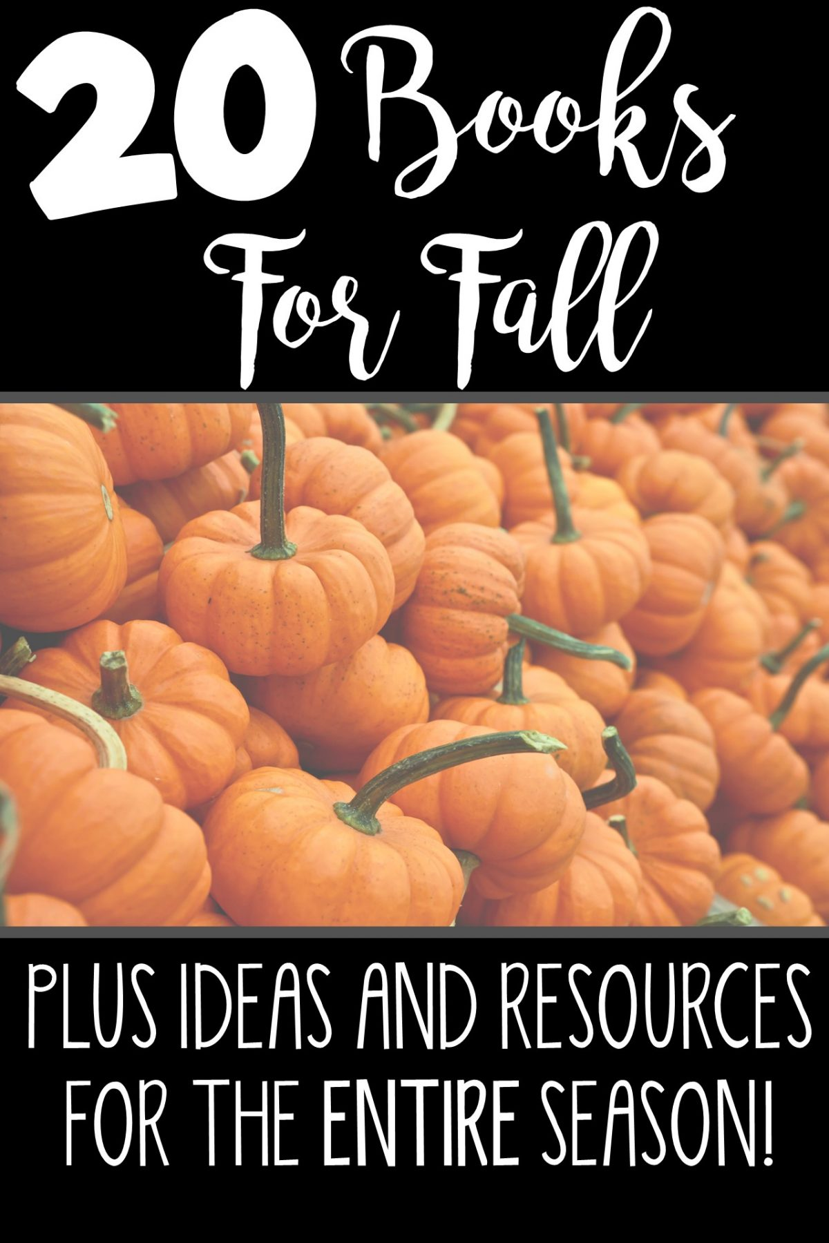 Check out 20 books for the entire fall season. Also includes tons of ideas and resources for Grandparent's Day, Labor Day, Halloween and Thanksgiving! Plan your entire fall in one post!