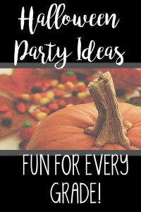 Make planning a party in the classroom on Halloween a breeze! Includes themed ideas for the holiday!
