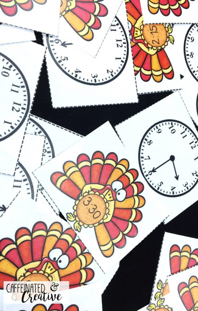 Turkey Time Center Game is a fun and quick game for students to practice matching analog and digital time. This comes with 8 pages of times written in both analog and digital time.