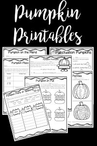 Pumpkin themed printables perfect for a pumpkin themed classroom party.