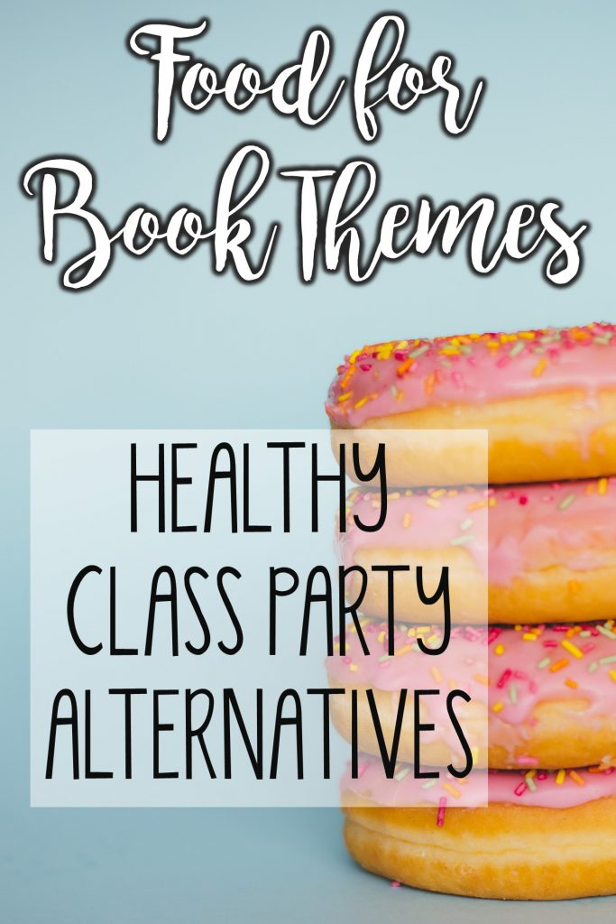 Get ideas of healthier foods based on books! Perfect for Book Character Day, Dr. Seuss week, and much more!