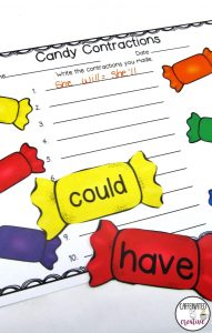 Candy Contractions Center Game is a fun and quick game for students to practice their contractions. This comes with 2 pages of words to form contractions and a recording sheet!