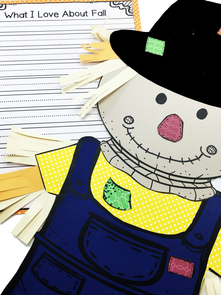 Scarecrow Craft and Writing is a fun and cute way for students to get into the fall mode! Using either white paper or colored paper, a cute Scarecrow will come to life!