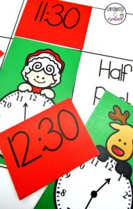 Christmas Time Center is a fun center for students to practice matching digital and analog time. This center is part of a December ELA and Math Center Bundle which comes with 11 other centers!