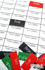 Kwanzaa Syllable Sort is a fun and quick center for students to practice syllables. After each word is cut out, students place the word on the correct number of syllables and will eventually form a picture. This center is part of a December ELA and Math Center Bundle which comes with 11 other centers!
