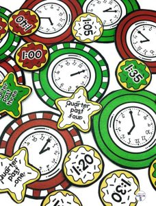 Christmas Cookie Time is a fun center for students to practice matching digital and analog clocks.