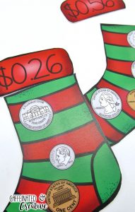 Stocking Stuffers Center is a fun and easy center game for students to practice counting coins. Simply print, laminate and cut out! This center is part of a December ELA and Math Center Bundle!