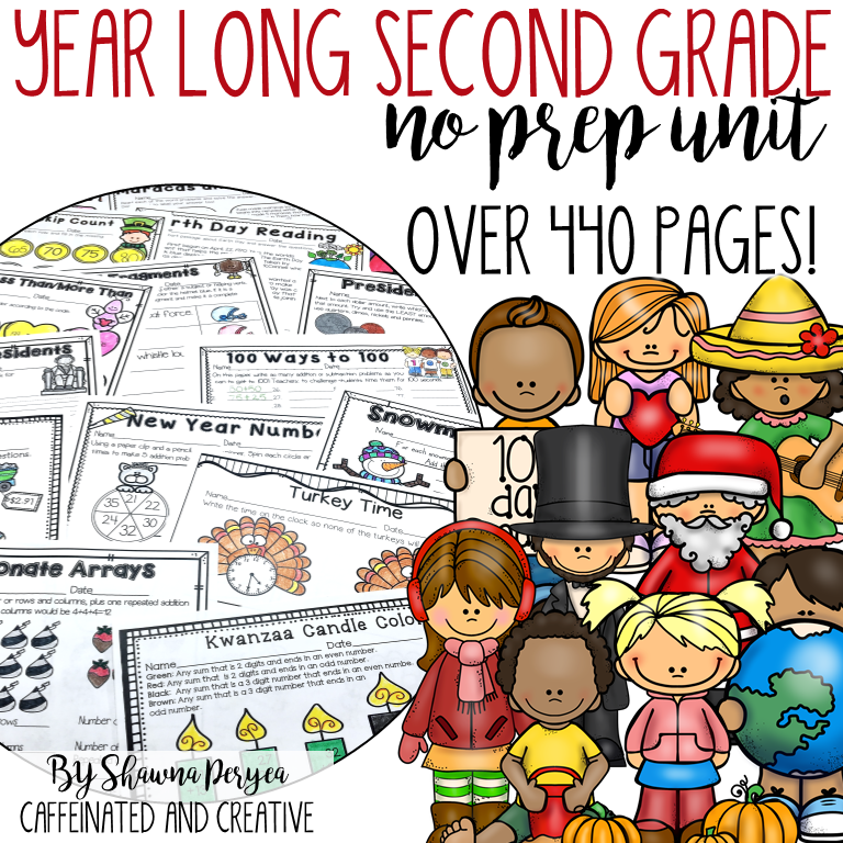 Year Long No Prep for Second Grade