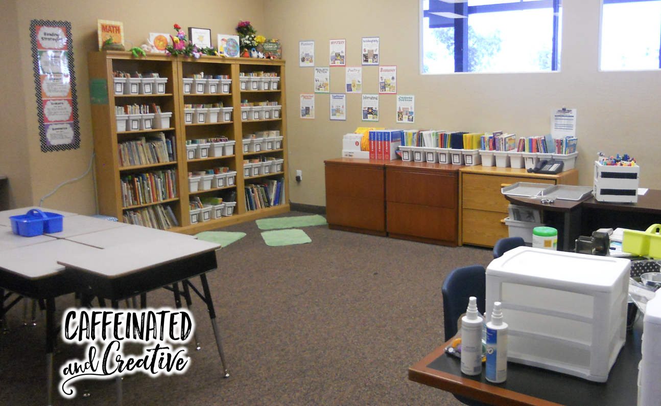 Use ice bins and drawers for an organized classroom.