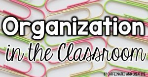 Organization ideas for the classroom.