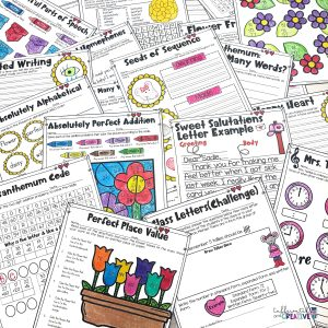 Chrysanthemum Unit includes tons of activities to teach kindness, name appreciation, and more! Also includes themed literacy and math worksheets.