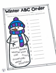 Students can practice putting winter words in alphabetical order with Winter ABC Order. This page is part of a Winter No Prep ELA and Math Unit for Second Grade!