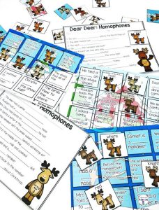 Dear Deer A Homophones Matching Center is a fun center for students to match homophones by filling in the blanks in sentences! Students will read each sentence then fill in the blank with the correct homophone! Comes with 3 different sorting mats with reindeer homophones that come in puzzle format (where they match the background), no background format AND black and white. Each sorting mat comes with its own recording sheet and there is also a mass recording sheet for all three mats!