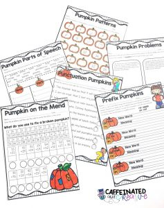 Pumpkin themed activities are a perfect alternative for celebrating Halloween in the classroom.