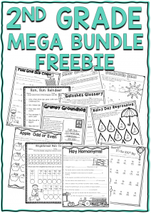 Snag an exclusive freebie by signing up for my newsletter. You will get a sample of my year long mega bundle for second grade!