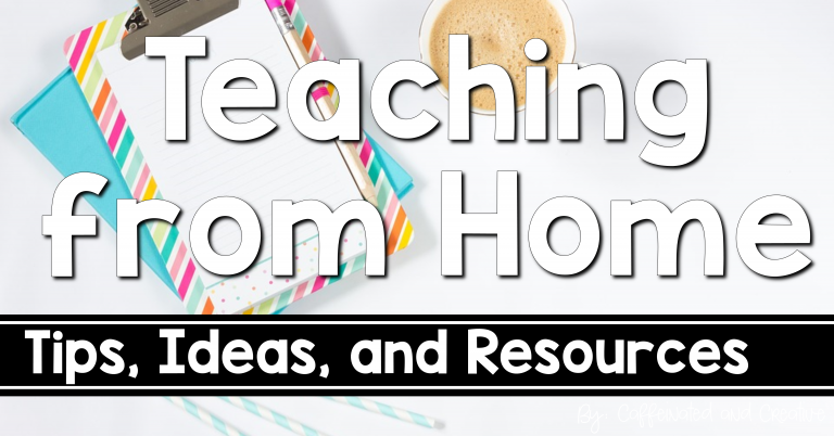 Teaching from home: get tips, ideas, and resources for when you have t osuddenly teach from home!