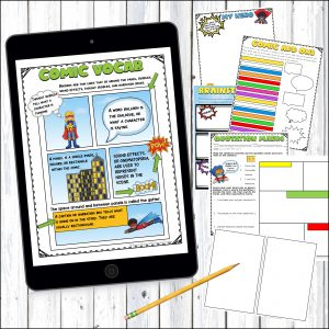 Digital and Printable comic book writing teaches students the writing process in a fun and interactive way!