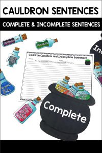 Cauldron Sentences is a fun center for students to practice sorting incomplete (fragments) and complete sentences.