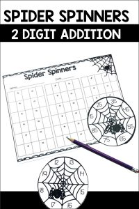 Spider Spinners is a fun and quick game for students to practice their 2 digit addition. This comes with 8 different spinners and a recording sheet!