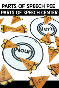 Parts of Speech Pie Center Game is a fun and quick game for students to practice their parts of speech. This comes with 3 plates and 3 pies.
