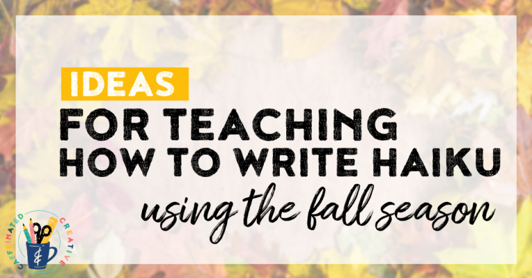 Read on for ideas and a resource for teaching students how to write haiku! Using fall templates they will create displays for the entire fall season!