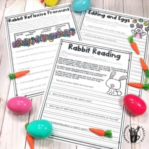 Easter themed printables are great for practicing concepts during Easter!