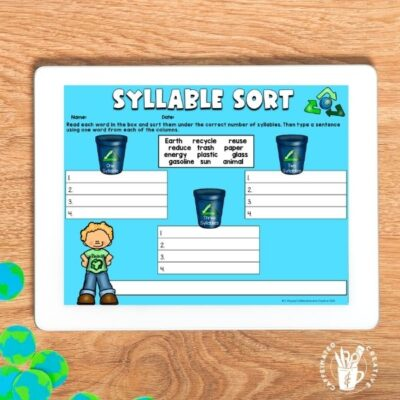 Have students practice sorting syllables with a fun Earth Day activity! Now digital and pirntable!