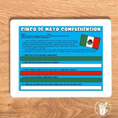 Have students learn about Cinco de Mayo with this short passage and comprehension questions! How to Survive the Spring Holidays As A Teacher