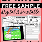 Free Digital And Print Spring Sample for 2nd Grade