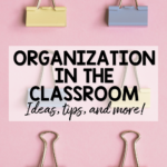 Ideas for easy organization in the classroom that won't break the bank!